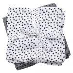 Súprava 2 bielych a sivých mušelínových plienok Done By Deer Happy Dots