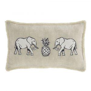 Béžový vankúš Pineapple Elephant Tembo, 30 x 50 cm