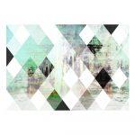 Veľkoformátová tapeta Artgeist Forest Rhombic Chessboard , 400 x 280 cm