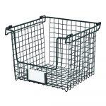 Čierny kovový košík iDesign Classico, 25,5 x 25,5 cm