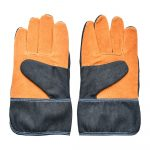 Modro-oranžové záhradnícke rukavice Esschert Design Denim