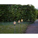 Súprava 3 vonkajších svetelných LED dekorácií Star Trading Olympus, výška 40 cm